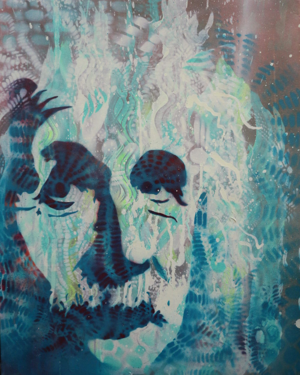 "Einstein Art Raffle 16""x20"" Spray Painting"
