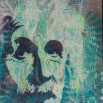 Spray Paint portrait of Albert Einstein