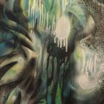Abstract Peacock Spray Painting