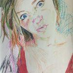 Color Pen Sketch of Brittany Webb