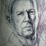 Pen Sketch of Bruce Willis