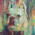 Spray Painting of French Bulldog