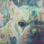 Spray Painting of French Bulldog