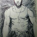 Hugh Jackman as Wolverine Sketch