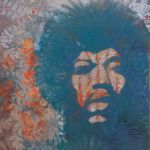 Spray Painting of Jimi Hendrix