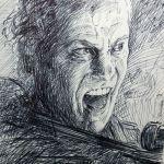 Crosshatching Pen Sketch Of John Malkovich