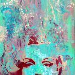 Spray Painted Marylin Monroe portrait