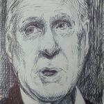 Pen sketch of Politician