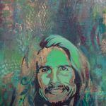 Spray painting of Steven Tyler from Aerosmith