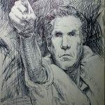 Pen sketch of Will Ferrell